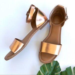 FRANCO SARTO • Rose gold sandals